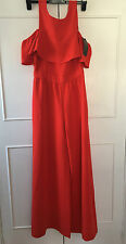 brand new Zara red cold shoulder ruffle Jumpsuit - Medium