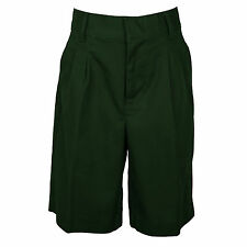UNIVERSAL BOYS HUNTER GREEN PLEATED SHORTS SCHOOL UNIFORM  SIZES 4 -20