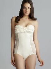NWT $151 JUICY COUTURE PRIMA DONNA LACE RUFFLE BANDEAU MIO SWIMSUIT, SIZE: M, XL