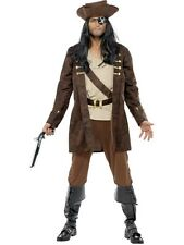 FANCY DRESS MENS PIRATE BUCCANEER CARIBBEAN PIRATE SHIP MATE COSTUME 3 SIZES