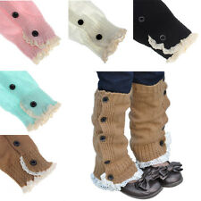 STOCK Baby Kids Girl Crochet Knit Splice Socks Leg Warmer Stockings Boot Cuffs