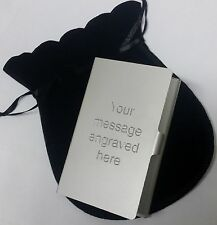 Engraved Business Credit Card Holder Personalised Gift for him her - Lightweight