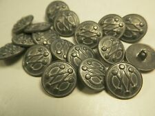 New Lot of Metal Silver Nickel Buttons sizes 13/16 inch 11/16 & 5/8  (S34)