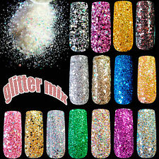 Shiny Gradient Nails Glitter Mixed Color Nail Art Powder Abalone Sequins Glitter