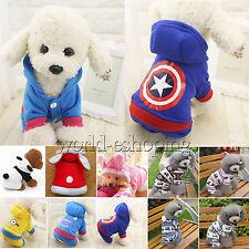 Pet Dog Cat Puppy Hoodie Coat Sweater Jacket Pets Warm Costume Apparel Clothes