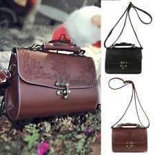 New Fashion Women Synthetic Leather Vintage Style Shoulder Bag Casual Retro WT88