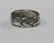 """Coin ring """"Handmade"""" from WALKING LIBERTY  Silver  Half Dollar in sizes 9-14"""