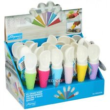 Ice Cream Scoop Cone Shaped Kitchen Dessert Dinner Serving Cutlery Kids Fun