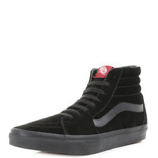 Mens Vans Sk8 Hi Black Black Suede Casual Leather High Top Trainers Shu Size