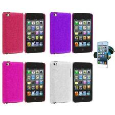 Color Bling Glitter Hard Cover Case+Windshield Mount for iPod Touch 4th Gen 4G