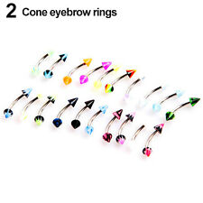 20X Ball Cone Dice Rhinestone Eyebrow Lip Tongue Navel Belly Button Rings Beamy