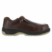 Florsheim Mens Dark Brown Leather Casual Loafer Lucky Steel Toe