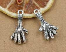 6/30/150pcs Tibet silver jewellery charm pendant birds' claws 22x14mm