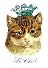 Le Chat Crowned Cat Crazy Quilting Block Multi Sizes FrEE ShiPPinG WoRld WiDE
