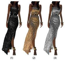 Sexy Women Lady Elegant Sequins Long Dress Cocktail Party Evening Maxi Dress New