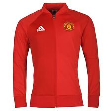 Adidas Manchester United Anthem Jacket Mens Red Football Soccer Track Top