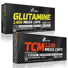 L-Glutamine + Tri-Creatine Malate TCM 60-180Caps Recovery Anabolic Muscle Growth