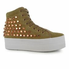 Jeffrey Campbell Play hOMG Platform Shoes Womens Nude/Rose Trainers Sneakers