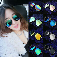 Fashion Unisex Vintage Retro Women Men Glasses Aviator Mirror Lens Sunglasses