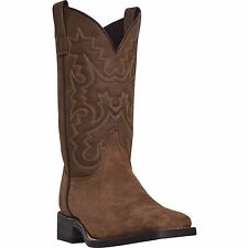 Laredo Mens Tan Cheyenne Leather Chanute 11in Sq Toe Cowboy Boots