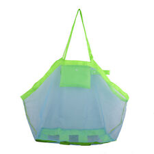 Beach Storage Bag Portable Sand Away Carry All Beach Toys Clothes Mesh Bag Tote