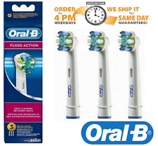 BRAUN ORAL-B FLOSS ACTION TOOTHBRUSH HEADS 3PACK 100% GENUINE