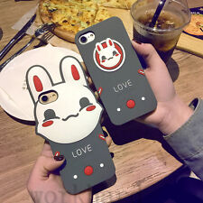 New 3D Cartoon Bunny Rabbit Soft Silicone Phone Case Cover For Apple iPhone