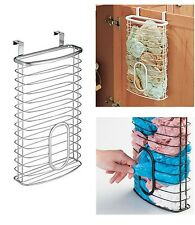 Over Door Holding Grocery Garbage Bag Dispenser Kitchen Storage Holder Stainless