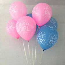 "Balloons Baby Girl and Boy Pink Blue  Balloons new born 12"" Latex Helium"