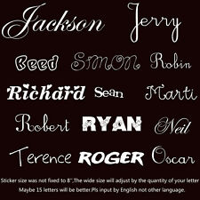 "Your Text Vinyl Decal Sticker Car Window Bumper CUSTOM 7"" Personalized Lettering"