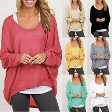 2017 New girls Autumn Women Ladies Loose long-sleeved Sweater Top Blouse Clothes