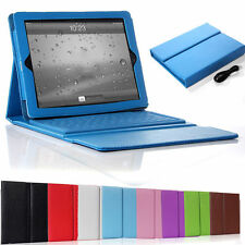 For iPad Air ipad 2/3/4 Wireless Bluetooth 3.0 Keyboard Leather Cover Stand Case