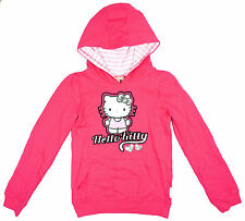 Girls Jumper Hoody Hello Kitty Top Cat Sequin Heart Hooded Sweater 3 - 10 Years