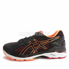 Asics GEL-Kayano 23 2E [T647N-9030] Running Black/Hot Orange-Vermilion