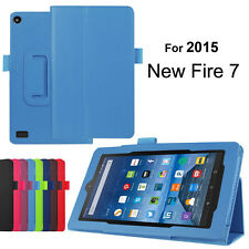 Magnetic Folio Leather Stand Cover Case for Amazon Kindle Fire 7 2015 Tablet Hot