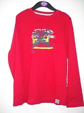 BNWOT Mothercare Long Sleeve  Car T-Shirt. Boys. Red. Age 6-10 Years
