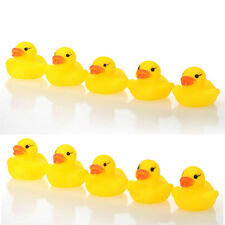Lot 1/5/10/20Pcs Yellow Baby Children Bath Toys Cute Rubber Squeaky Duck Ducky