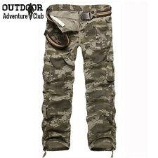 Military Cargo Pants Men Many Pockets Camouflage Combat Trousers Cotton Fashion