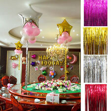 Metallic Foil Tinsel Curtain Wedding Birthday Party Decoration Photo Backdrop