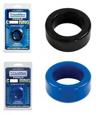 TitanMen Stretch-to-Fit Penis Ring/C-Ring/Enhance NEW !!! Blue/Black