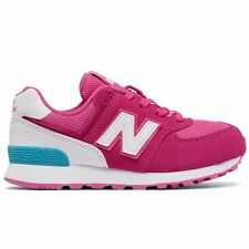 New Balance 574 High Visibility Pink White Girls trainers kids