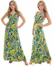 Holiday Resort Long Summer Maxi Dress Day Evening Party Empire MontyQ Plus Size
