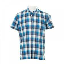 Mens Duck and Cover Short Sleeve Designer Collared Check Rebelo Twilight Shirt