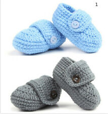 Buckle Baby Shoes Handmade Knitting Crochet Booties Baby Crochet Shoes D1