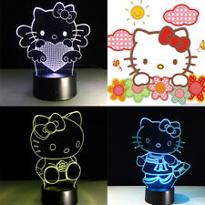 Night Light Acrylic Lamp LED Hello Kitty Home Decoration Christmas Gift Cute