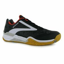 Dunlop Flash Ultimate Squash Indoor Court Shoes Mens Blk/Wht Trainers Sneakers