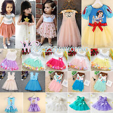 0-11Y Girl Princess Dress Kid Baby Casual Pageant Wedding Party Tulle Tutu Dress