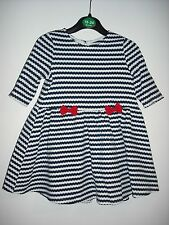 BNWOT Navy and White Stripe Dress. Girls. Age 9 Months to 5 Yrs