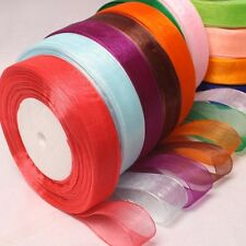 50Yds Roll of 50mm Quality Woven Edge Sheer Organza Ribbon Craft Wedding Sewing