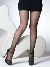 Gipsy Glitter Fishnet Tights, Lurex Silver Sparkle Net Party Tights
